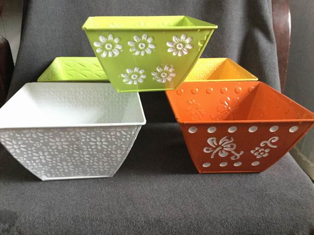 Square Metal Flower Pot