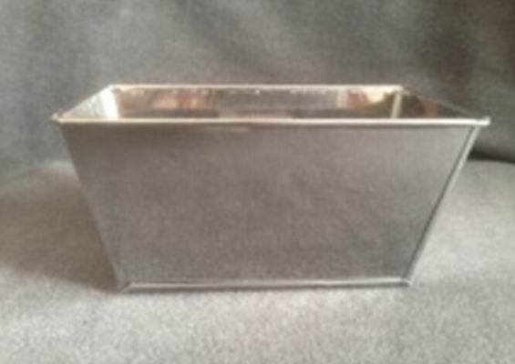 rectangle tin flower basket