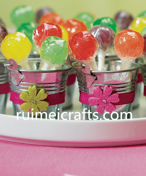 mini metal bucket for candy