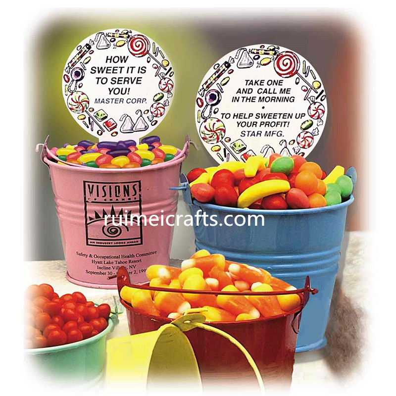 color painted bucket for food packing
