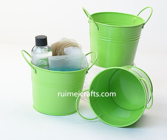 colorful small bucket with handles for storage