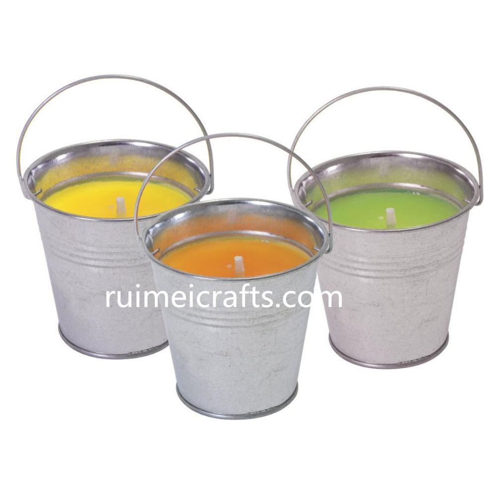 metal mini-pail for candle