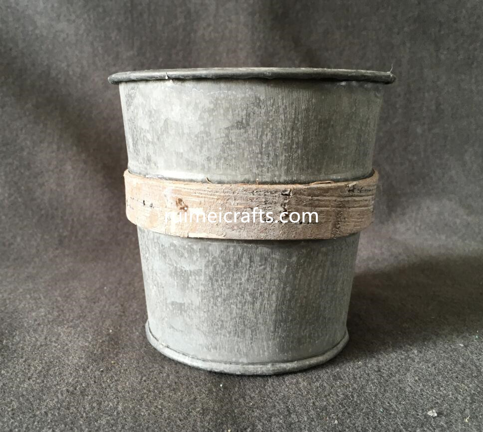 metallic bucket houseware deco