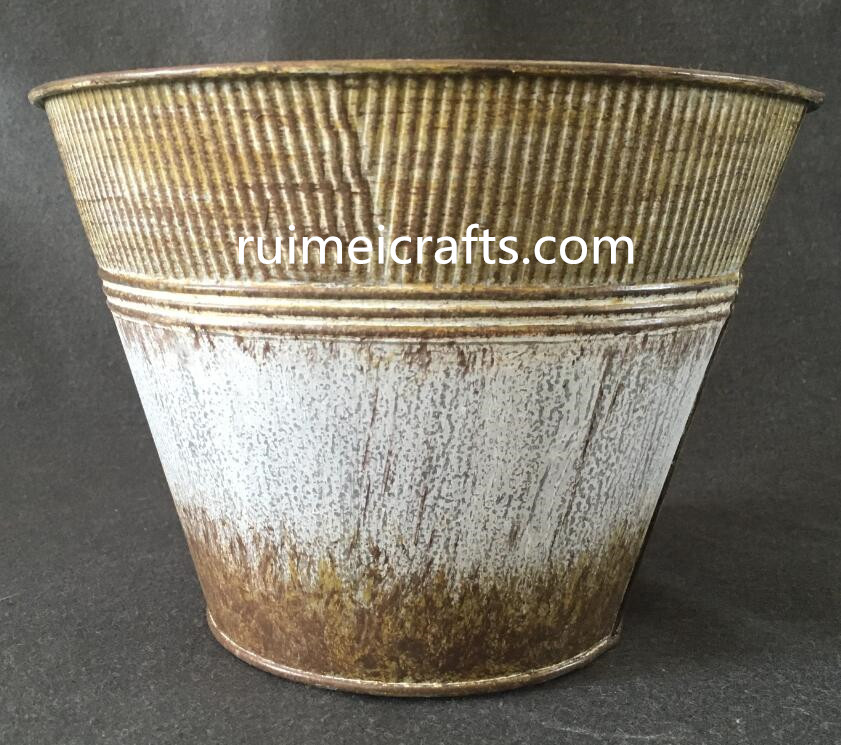 zakka deco metal bucket