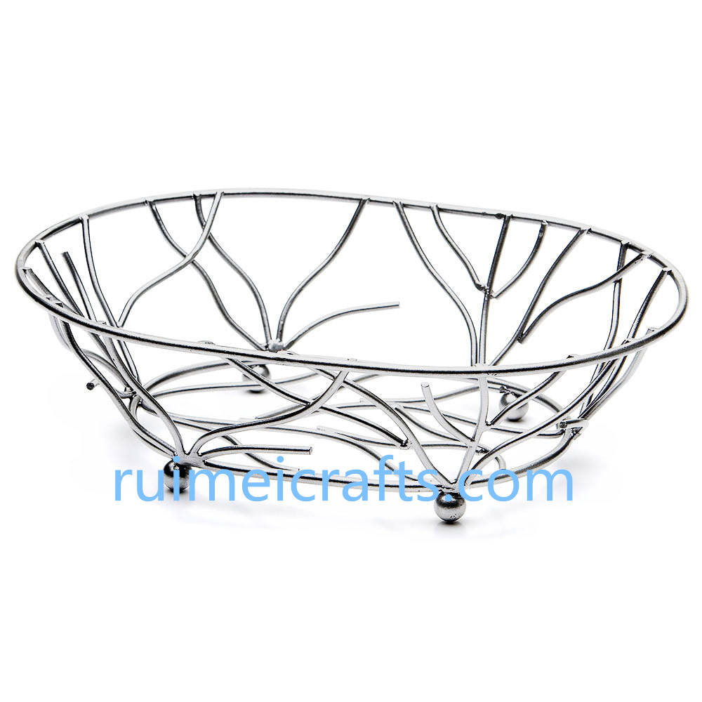 Chrome wire basket for bathroom