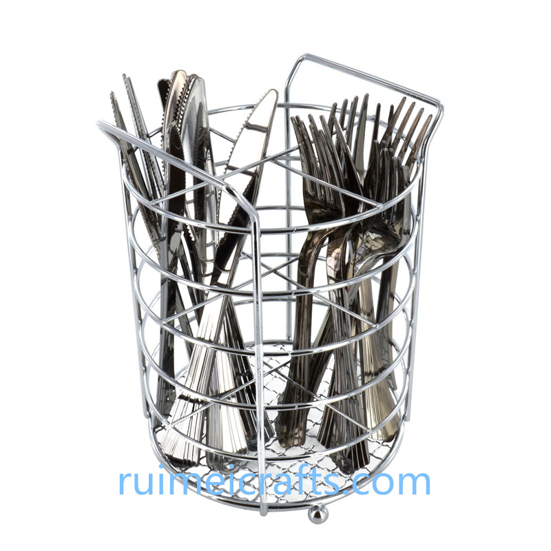Chrome wire basket for tableware