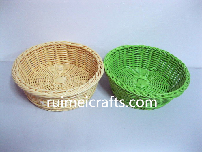 colorful storage rattan basket