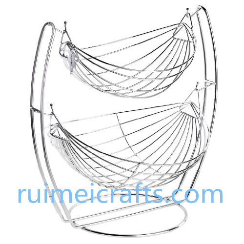 2 layers chrome wire basket for fruit