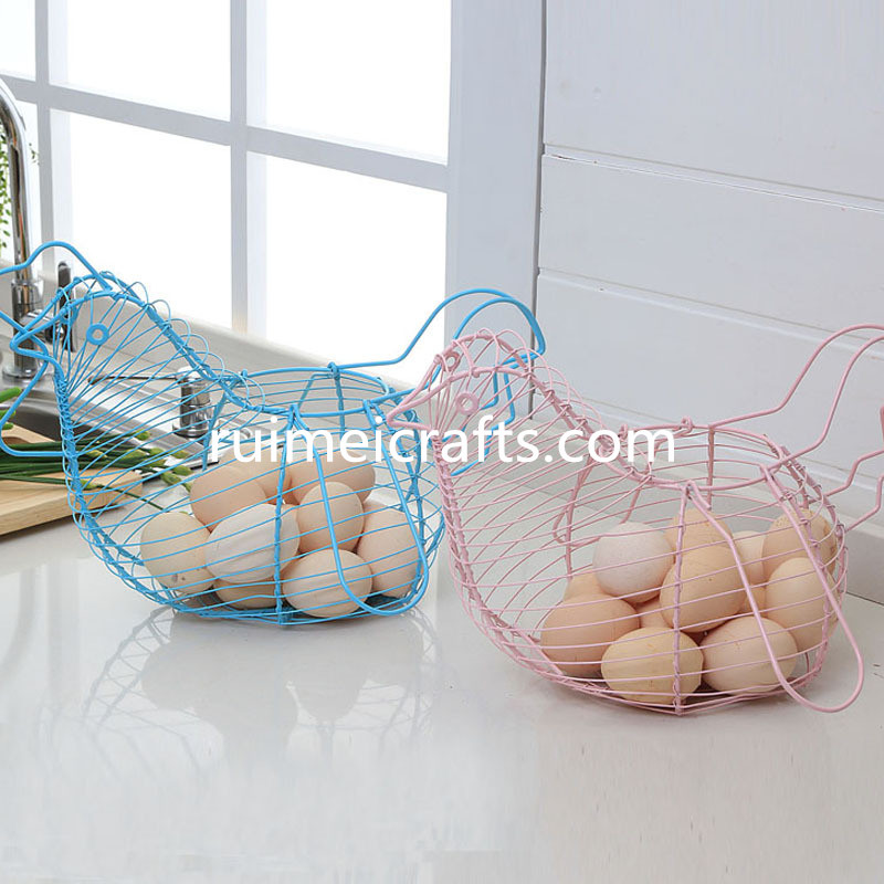 chicken shape wire basket for egg