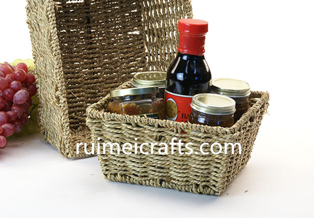 sisal rope basket for kitchen