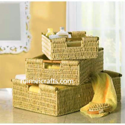 corn husk basket set of 3