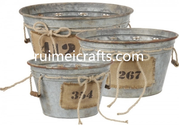 special design metal garden flower pot