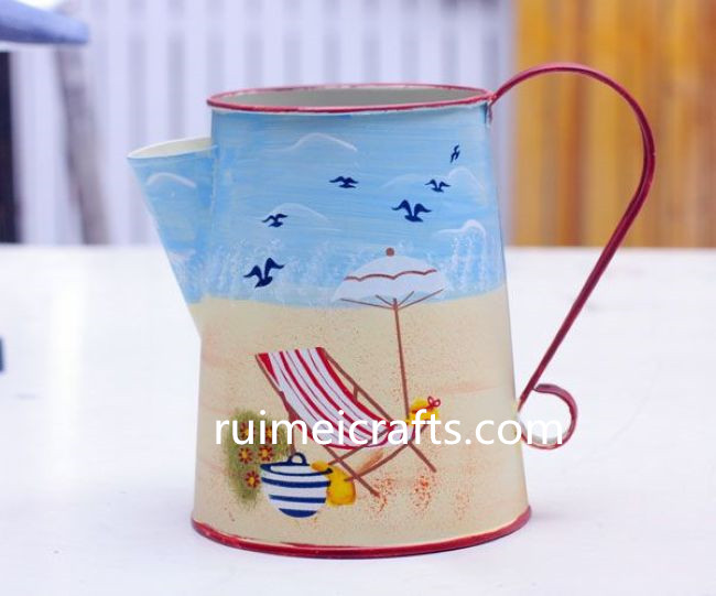 pastoral style color paint  courtyard style metal watering can