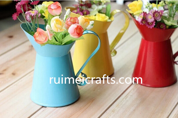 Metal flower vases home decoration Home Flower pots planter vintage finish