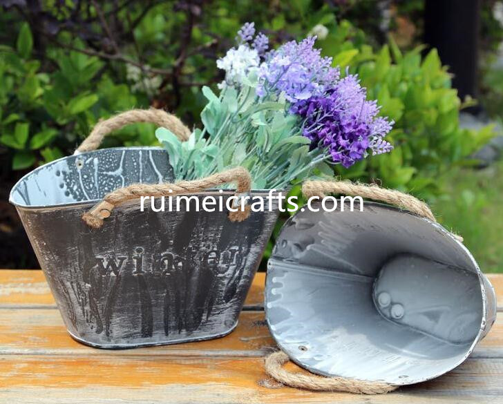 zakka style gardening flower pot with sisal ears
