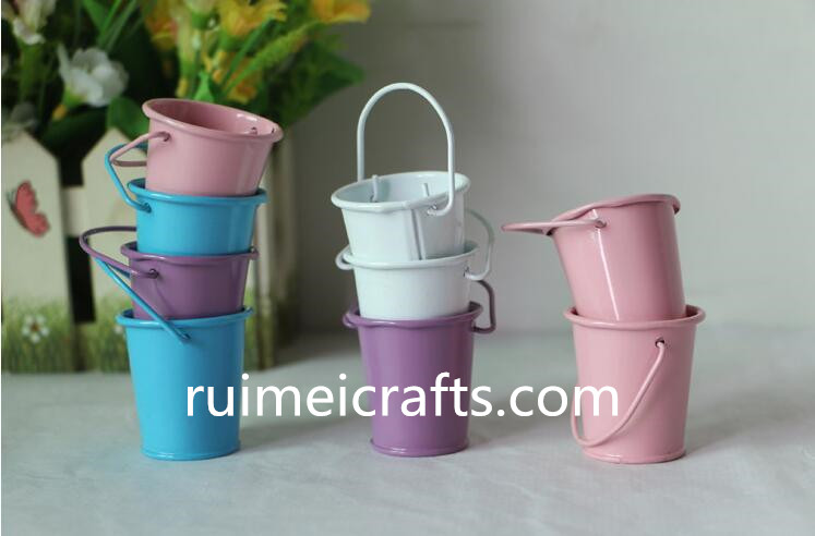 mini color metal bucket