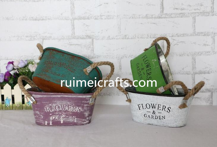 factory directly vintage metal garden flower planter pot