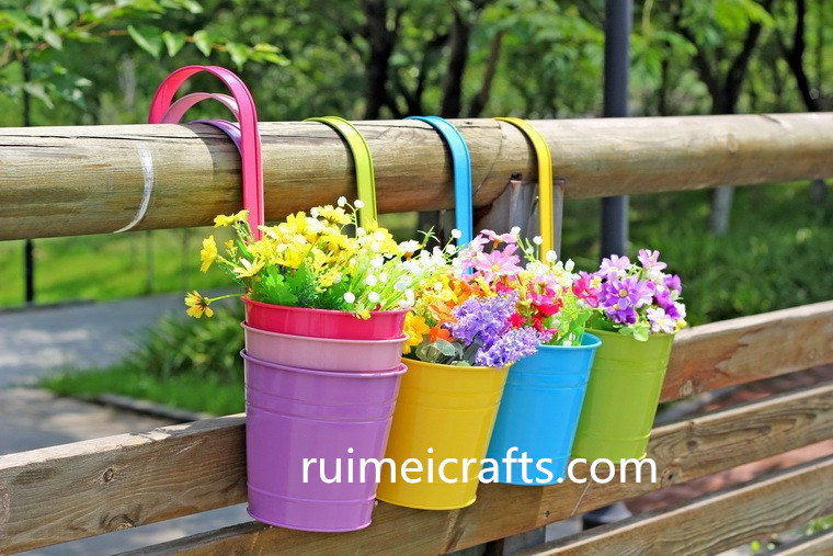 Fashion Metal Iron Flower Hanging Planter