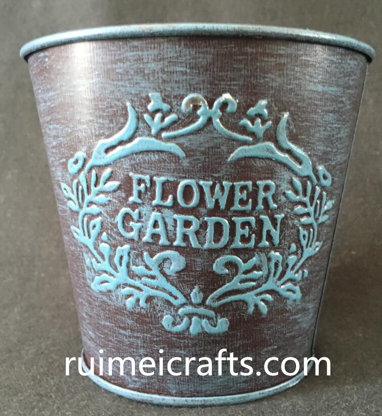 galvanizing iron sheet planter with emboss logo