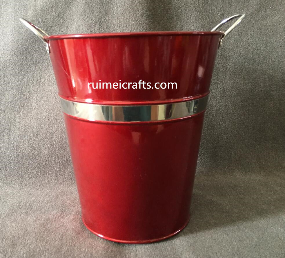 color metal tall bucket for cutting flowers