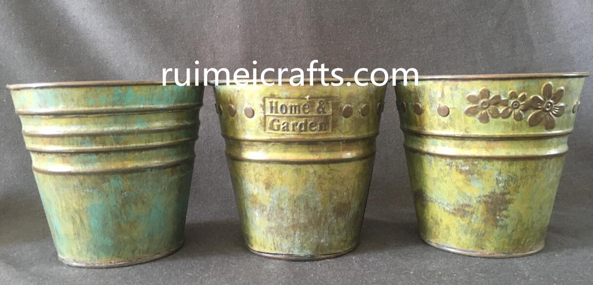 galvanized iron sheet planter for  deco