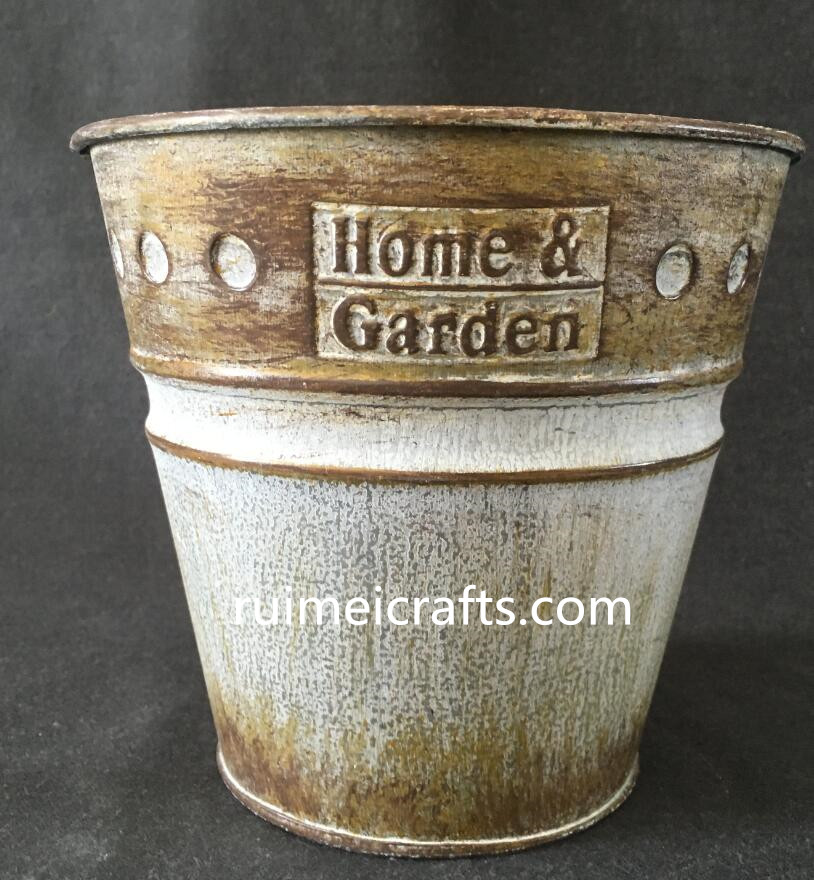 2016 hot sell metallic vintage gardening planter
