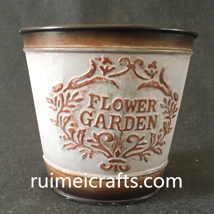 large size floral inner deco tin tub