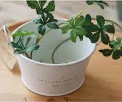 ROUND METAL FLOWER POT