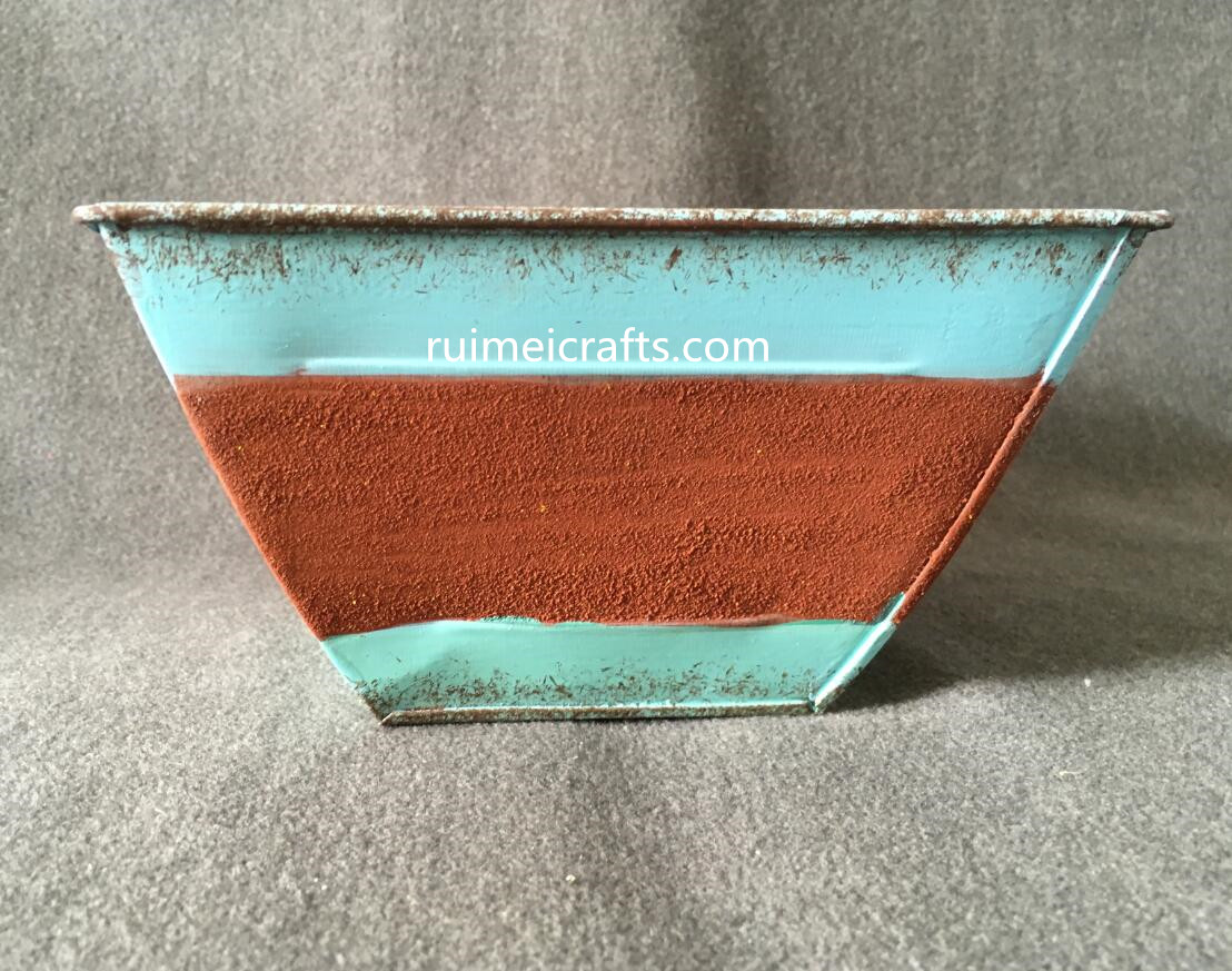 rusty iron sheet metal box for storage