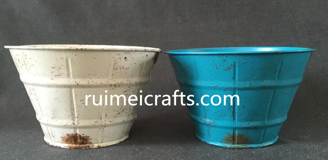 hot sale color vintage metal tin pot