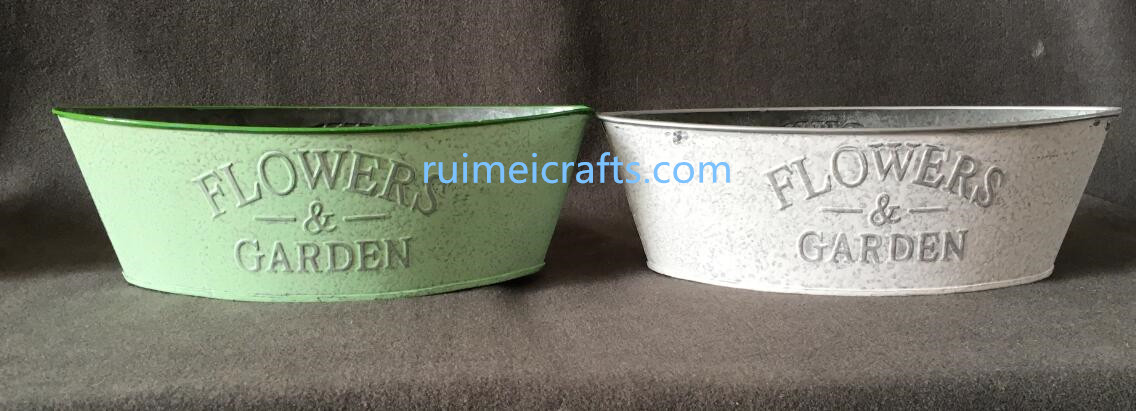 big size powder coating metal storage pot