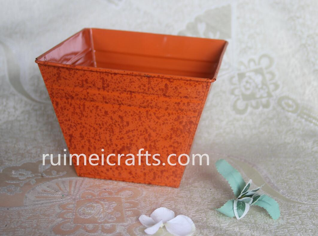 square color backing finishing metallic pot