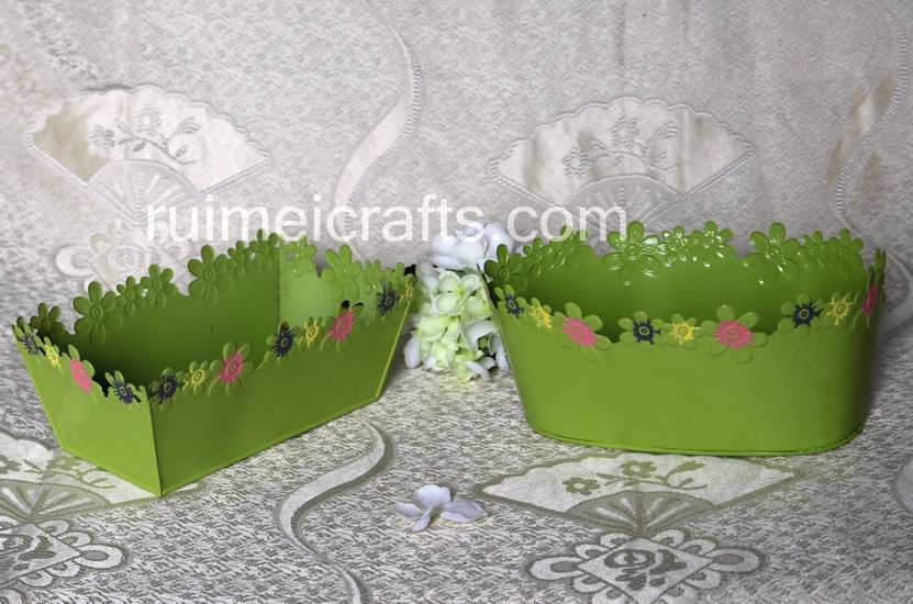 GREEN Garden Flower Carving Pots