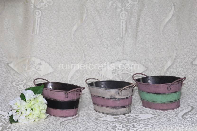 Oval Garden Pots With Handle