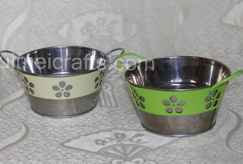 Garden Flower Pots With Handle