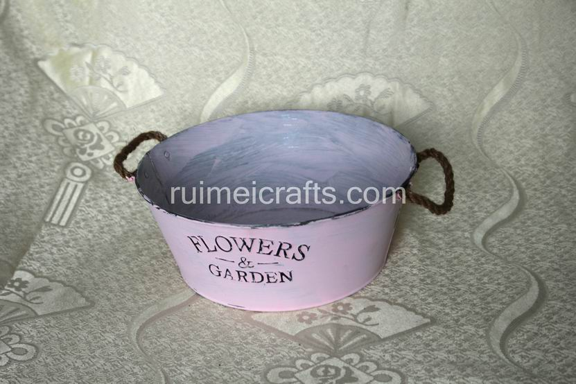 Antique Iron powder coating Flower Pots