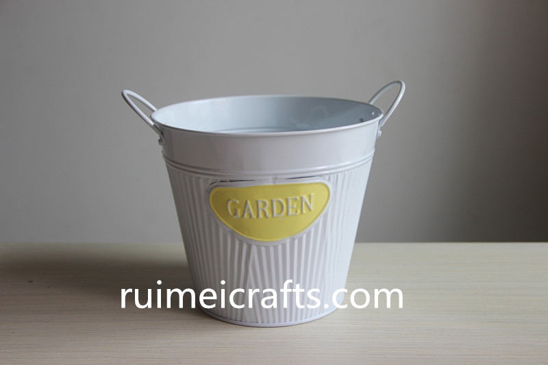glossy paint white pail set of 2 metal bucket (3).JPG